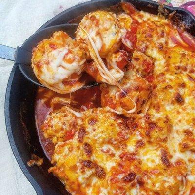 Chicken Parmesan Meatballs with Homemade Marinara