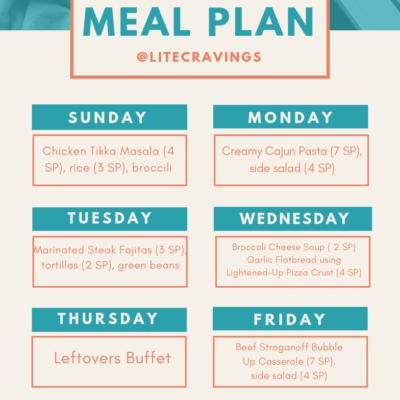 Menu Plan: March 10-16