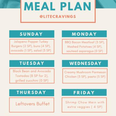 Menu Plan: March 24-29