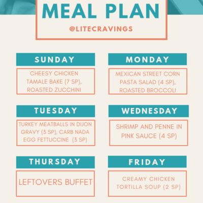 Menu Plan: March 31-April 5