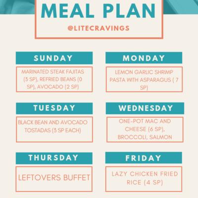 Menu Plan: April 14-19