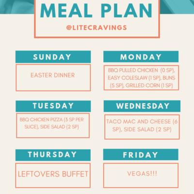 Menu Plan: April 21-26
