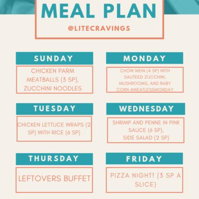 Menu Plan: April 28-May 3