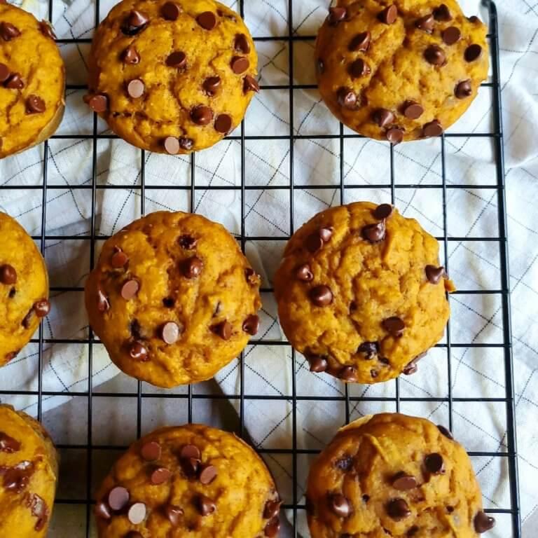 WW Pumpkin Chocolate Chip Muffins